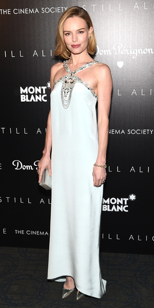 Kate Bosworth shows off her new bob hairstyle at The Cinema Society with Montblanc and Dom Perignon screening of Still Alice, held at Landmark's Sunshine Cinema in New York - 13 January 2015