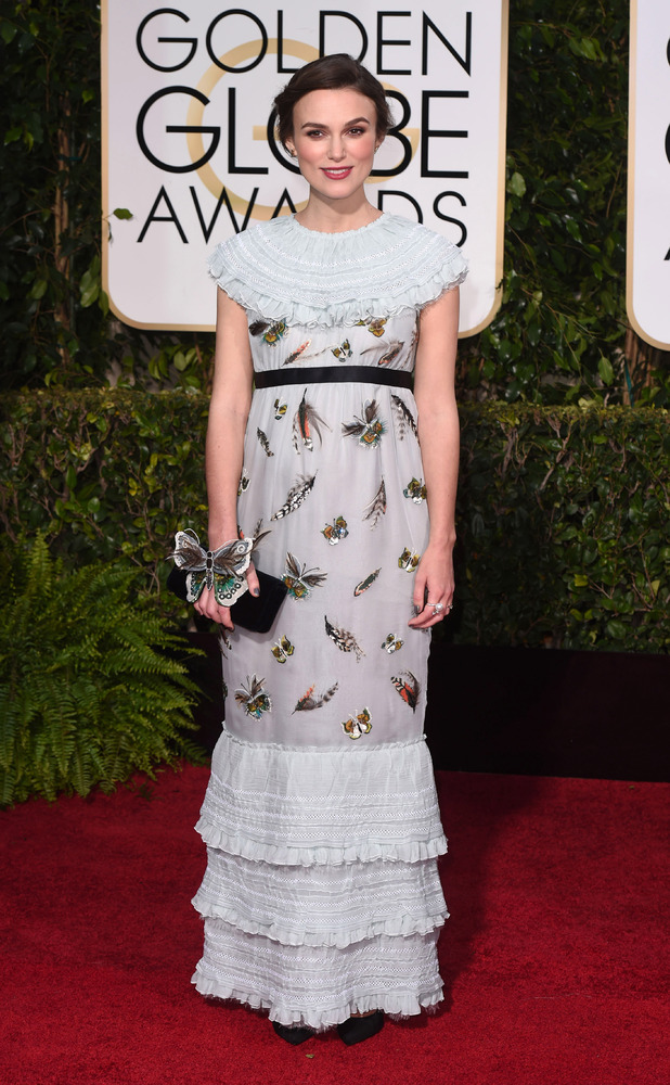 "Keira Knightley, 72nd Annual Golden Globe Awards, Arrivals, Los Angeles, America â€"" 11 Jan 2015"
