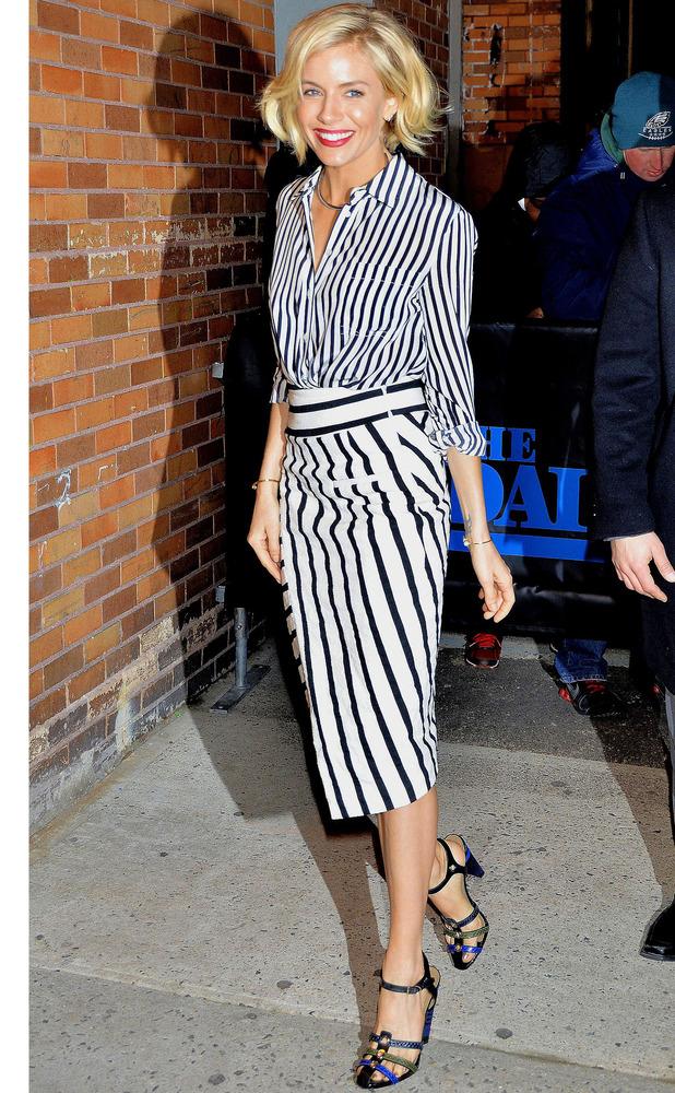 Sienna wearing monochrome trend