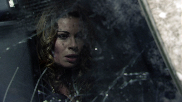 Corrie, Carla trapped in the bus, Mon 19 Jan