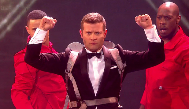 Dermot O'Leary at The X Factor - Final, Shown on ITV1 HD - 12/14/2014.