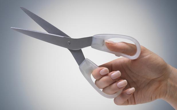 Woman holding scissors