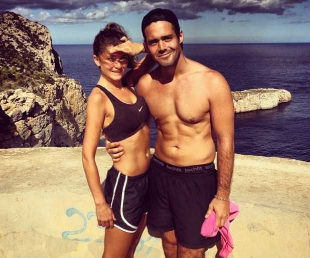 Lauren Frazer Hutton and Spencer Matthews hit bootcamp in Ibiza 14 January