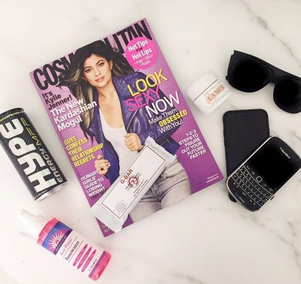 Kim Kardashian's 5am essentials on Twitter, 13/1/15