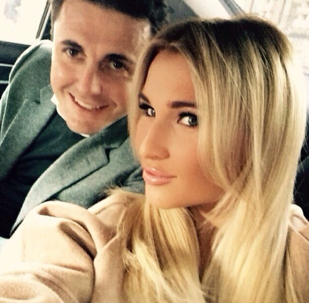 Billie Faiers and Greg Shepherd head out on her birthday 15 January