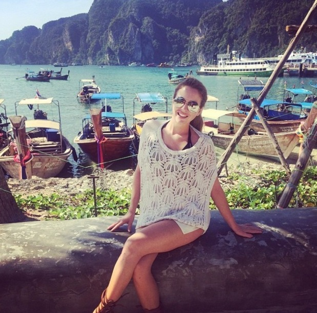 Lydia Bright on holiday in Koh Phi Phi, Thailand 12 January