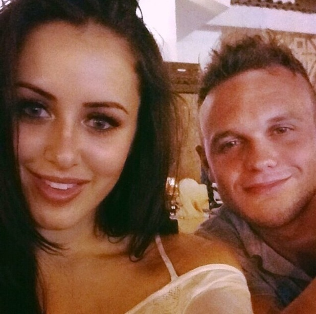 Marnie Simpson posts photo of herself and boyfriend Dan Sloane in Egypt October 2014