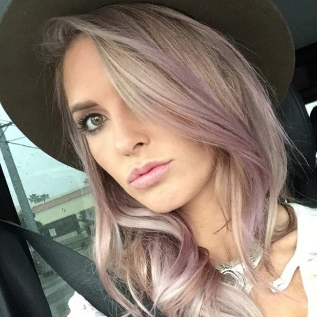 Audrina Patridge shows off her new silver and lilac hair colour in an Instagram picture - 13 January 2015