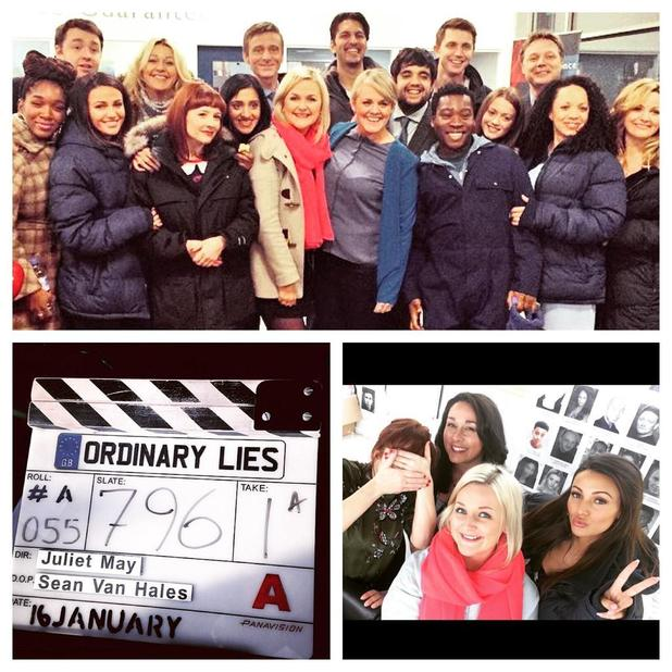 Michelle Keegan ends filming on new BBC drama Ordinary Lies, 17 January 2015