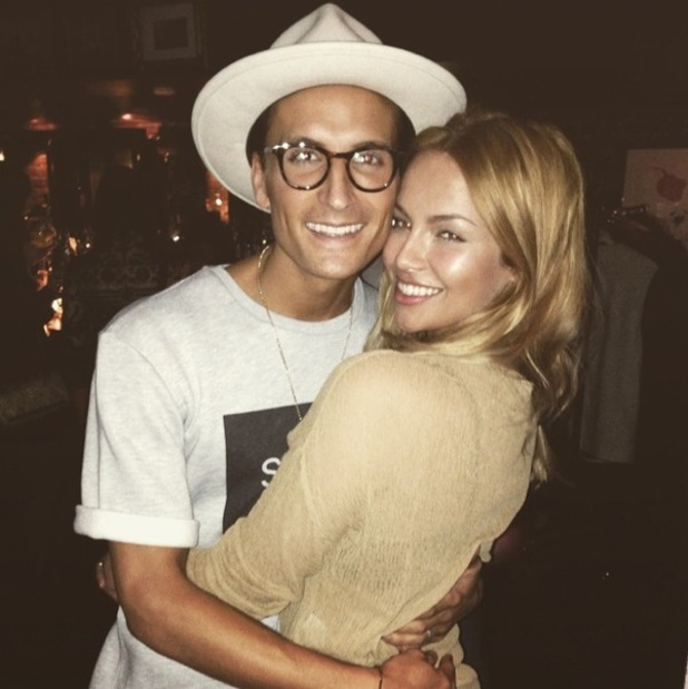 Oliver Proudlock and girlfriend Emma Louise Connolly at Thomson Scene launch, London 14 January