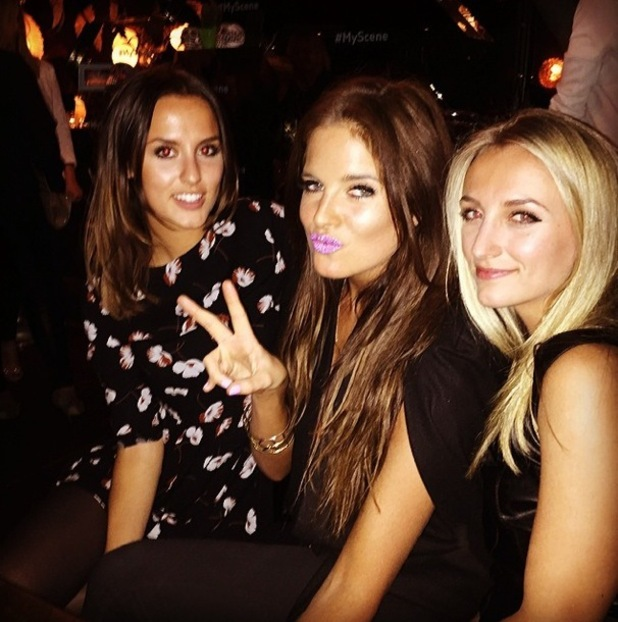 Made In Chelsea's Binky Felstead, Lucy Watson and Tiffany Watson attend the Thomson #MyScene campaign party in London - 14 January 2015