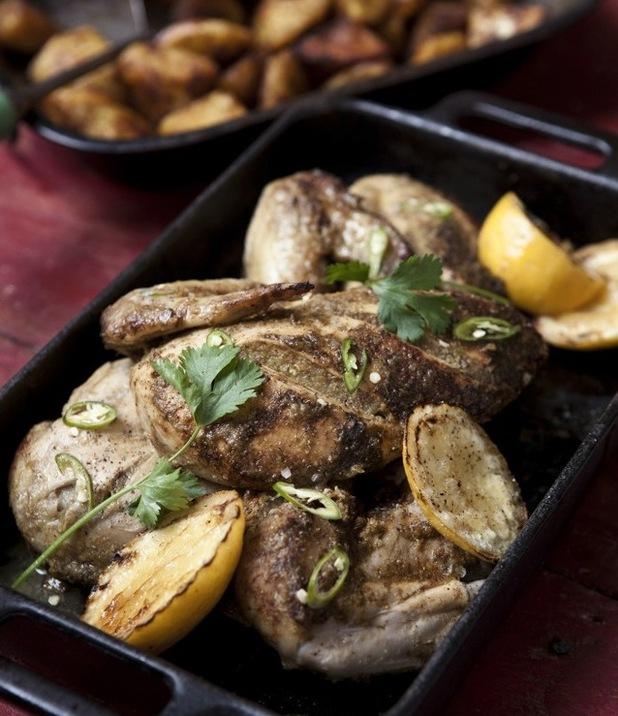 Roast Masala chicken and potatoes