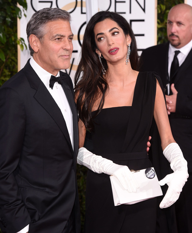 George and Amal Clooney, 72nd Annual Golden Globe Awards, Arrivals, Los Angeles, America - 11 Jan 2015