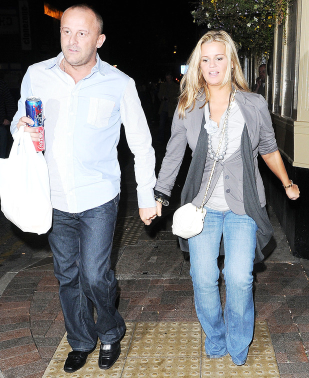 Kerry Katona and husband Mark Croft carrying take away food from a kebab shop after leaving The Nolans after show party Manchester, England - 13.10.09