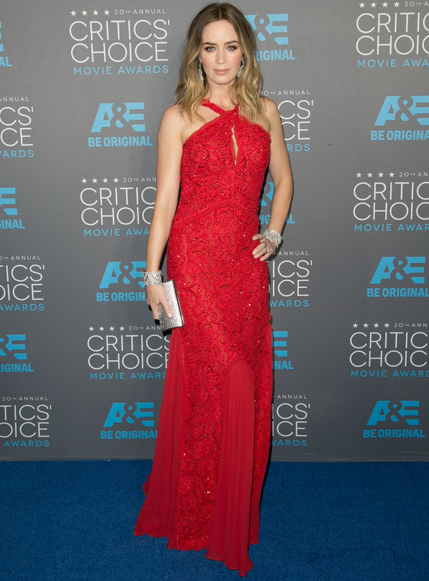 Emily Blunt attends the Critic's Choice Awards, LA 15 January