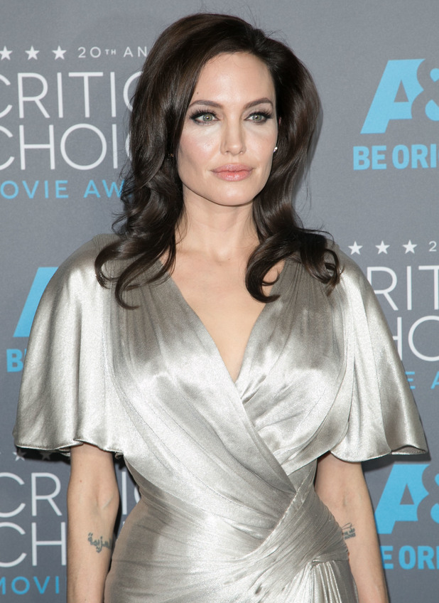 Angelina Jolie attends the 20th Annual Critics' Choice Movie Awards in Los Angeles, America - 15 January 2015