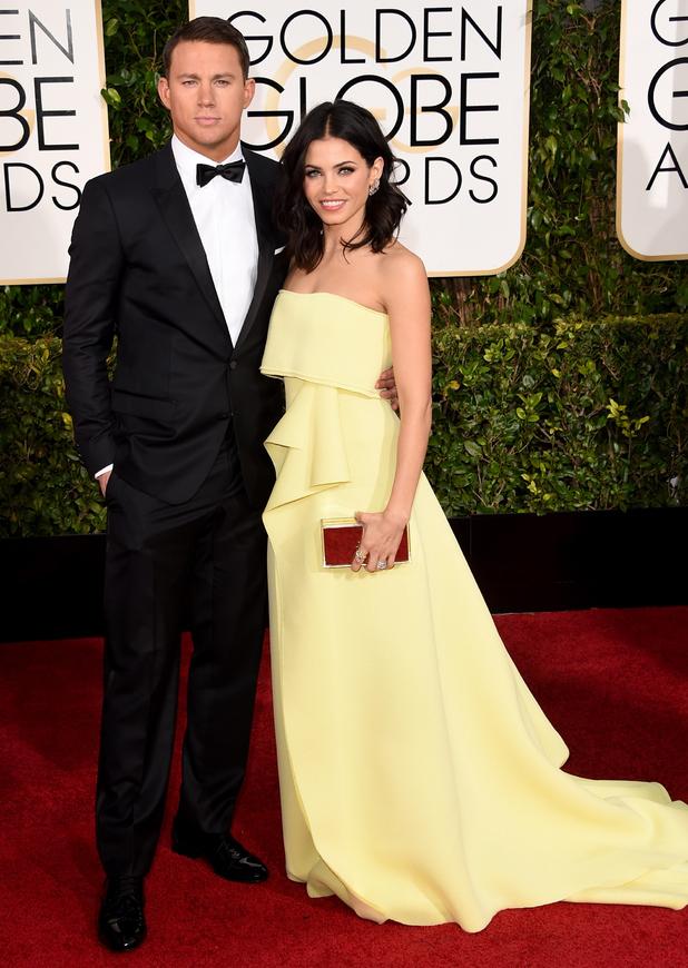 Jenna Dewan-Tatum and Channing Tatum attend the 72nd annual Golden Globe Awards in Los Angeles, America - 11 January 2015