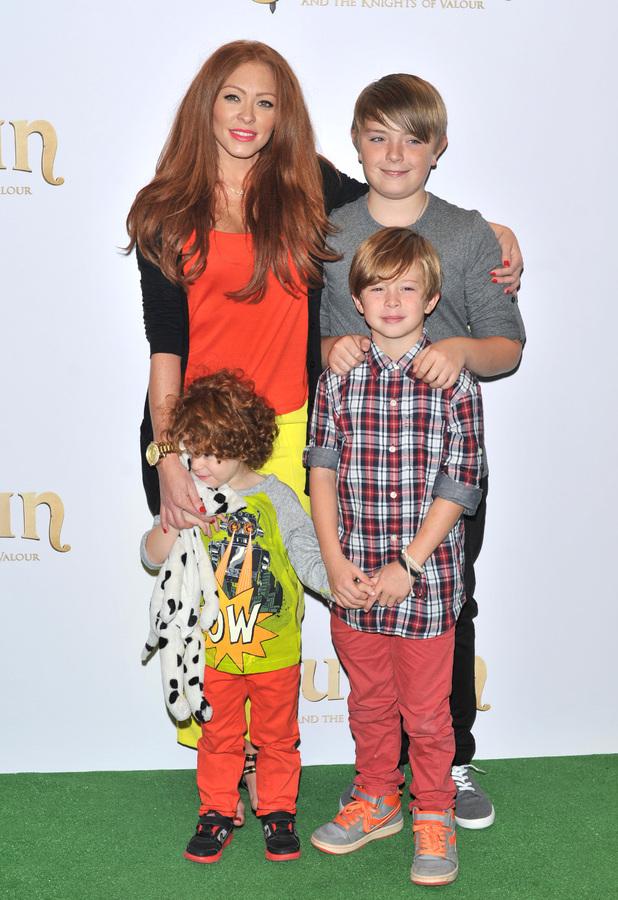 Natasha Hamilton and her sons, Josh, Harry and Alfie
