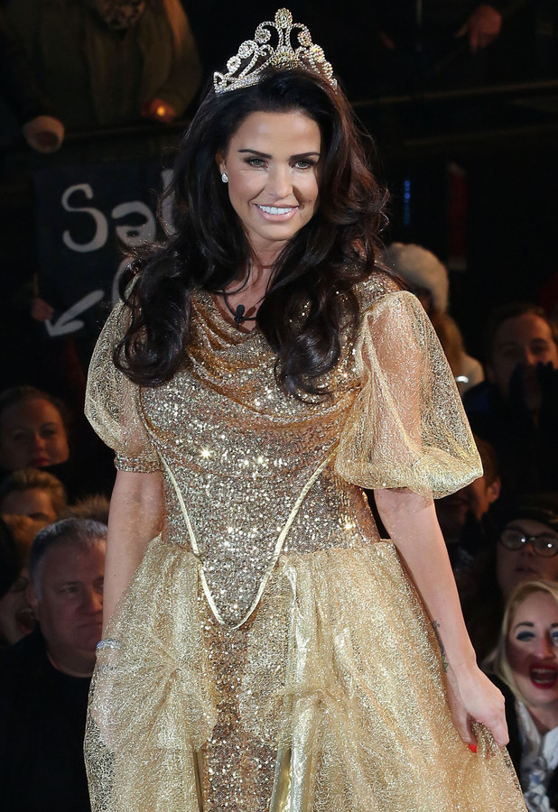 Katie Price enters the 'Celebrity Big Brother 15' house, 16 January 2015