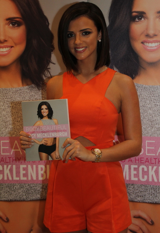 Lucy Mecklenburgh launches 'Be Body Beautiful' fitness guide at Meadowhall Shopping Centre, Sheffield, UK - 17 January 2015