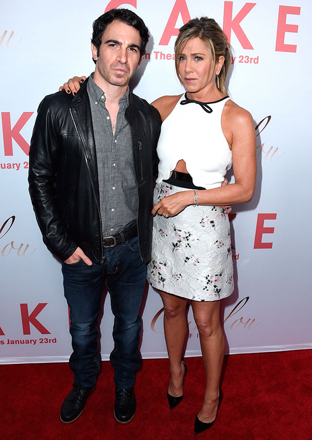 Jennifer Aniston attends the premiere of Cinelou Films' 'Cake' at ArcLight Cinemas with Chris Messina on January 14, 2015 in Los Angeles, California.