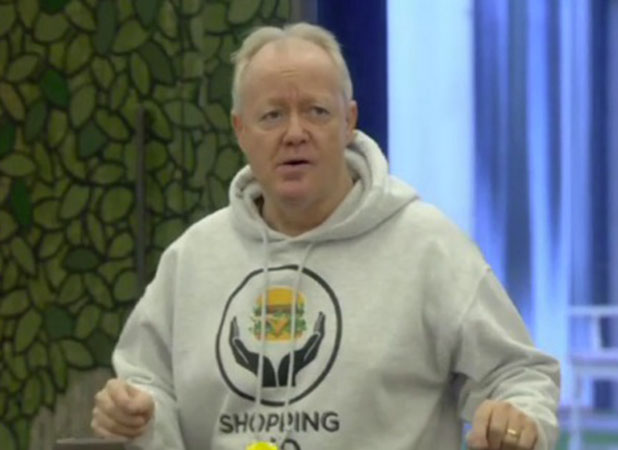 CBB: Keith Chegwin during the Shopping Aid task, 11 January 2015