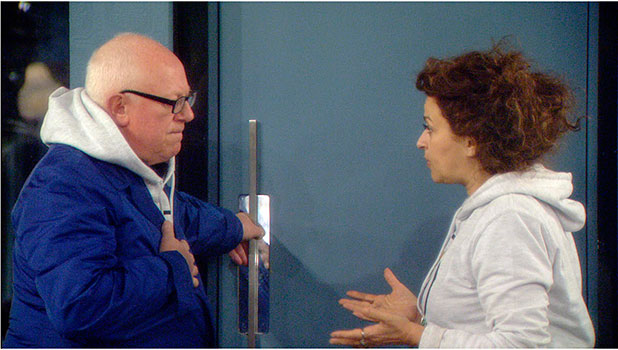 CBB: Nadia Sawalha and Ken Morley pictured in house, 11 January 2015