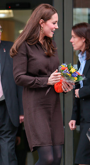 Duchess of Cambridge arrives for an official visit to Islington Children's Services, 16 January 2015