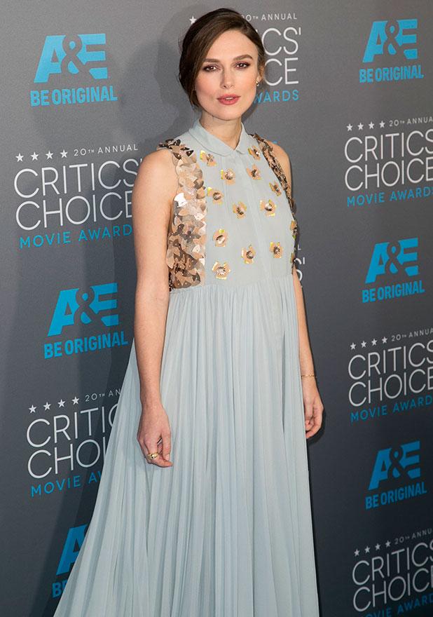 Keira Knightley at The 20th Annual Critics Choice Movie Awards, 16 January 2015