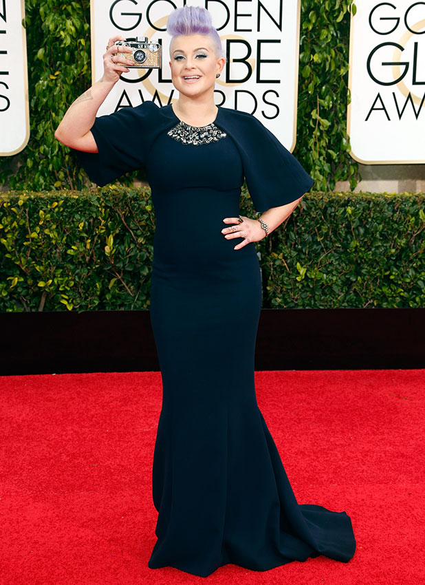 Kelly Osbourne attends the 72nd Annual Golden Globe Awards at The Beverly Hilton Hotel on January 11, 2015 in Beverly Hills, California.