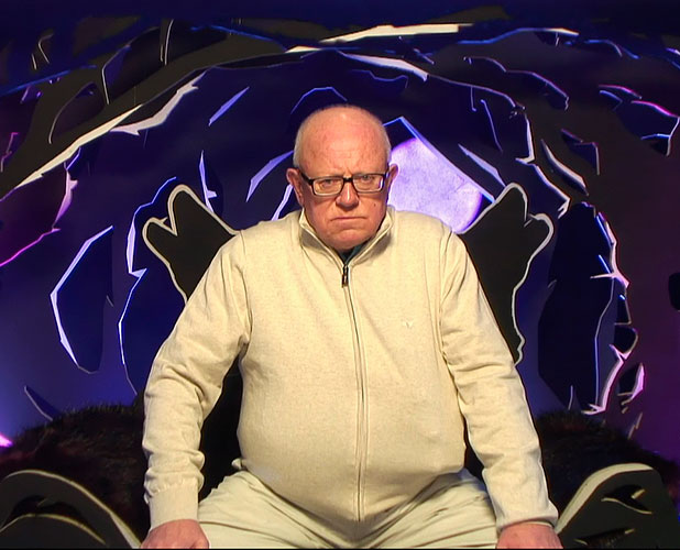 Ken Morley is given a warning by big brother for his offensive chat on 'Celebrity Big Brother', Shown on Channel 5 HD