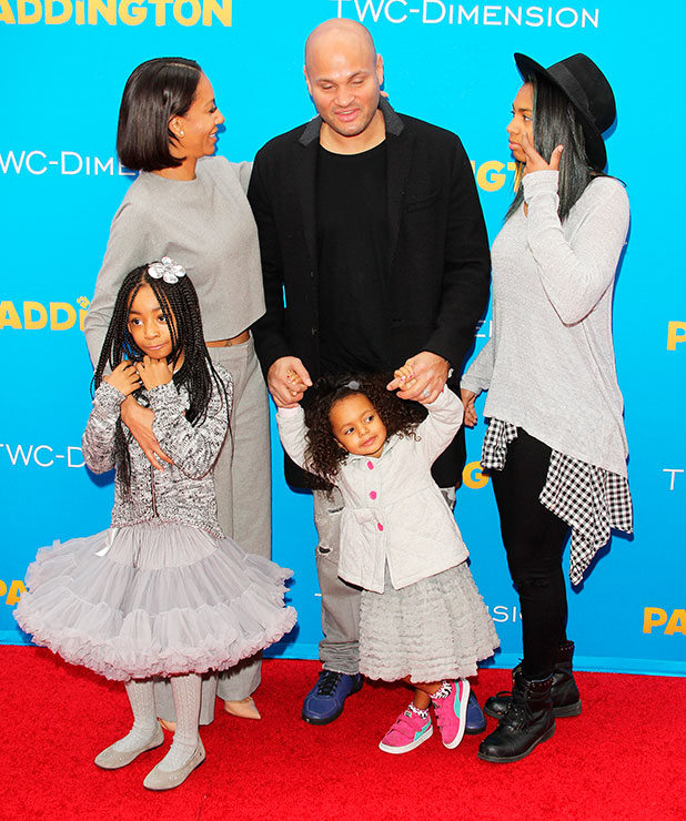 Melanie Brown and her family arrive at the Los Angeles premiere of 'Paddington' held at TCL Chinese Theatre IMAX on January 10, 2015 in Hollywood, California.