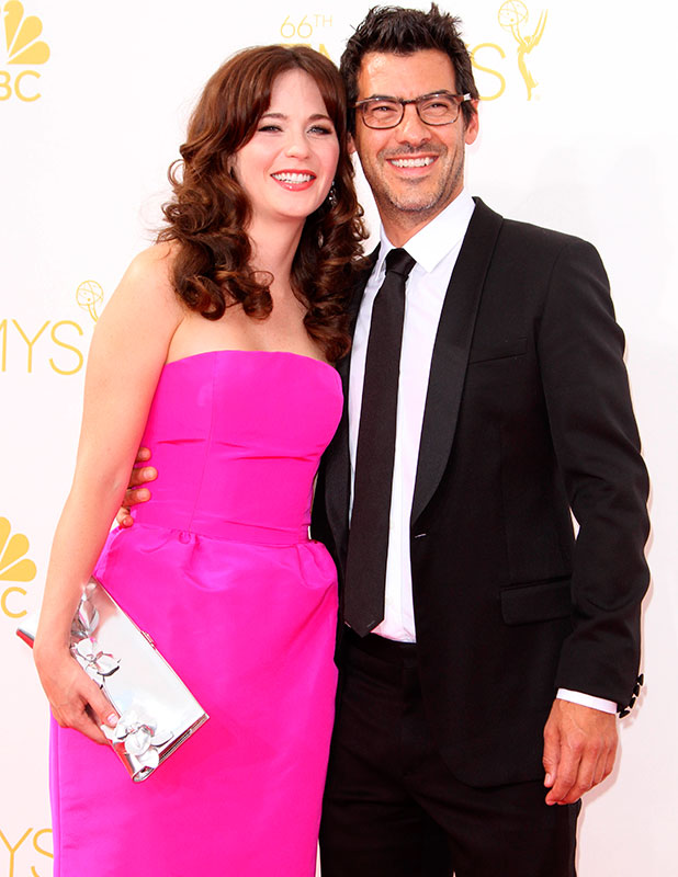 Zooey Deschanel and Jacob Pechenik  66th Primetime Emmy Awards - Press Room held at The Nokia Theatre L.A. Live! 2014