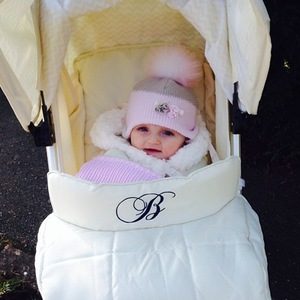 Billie Faiers walking with Nelly 20 January
