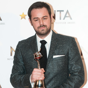 Danny Dyer wins 'Outstanding Serial Drama Performance' at the NTAs, The O2, London 21 January