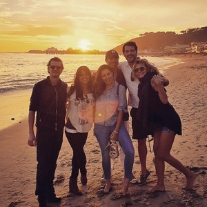Kelly Brook and friends in Malibu, LA 18 January