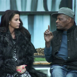 Alexander explains to Katie Price why he does not like Perez on 'Celebrity Big Brother', Shown on Channel 5 HD, January 2015