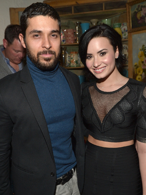 Demi Lovato and boyfriend Wilmer Valderrama attend Nick Jonas #1 At Top 40 Radio Celebration Party, The Ivy, LA 20 January