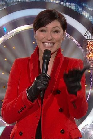 Emma Willis presenting Celebrity Big Brother on live eviction night - 16/1/2015.