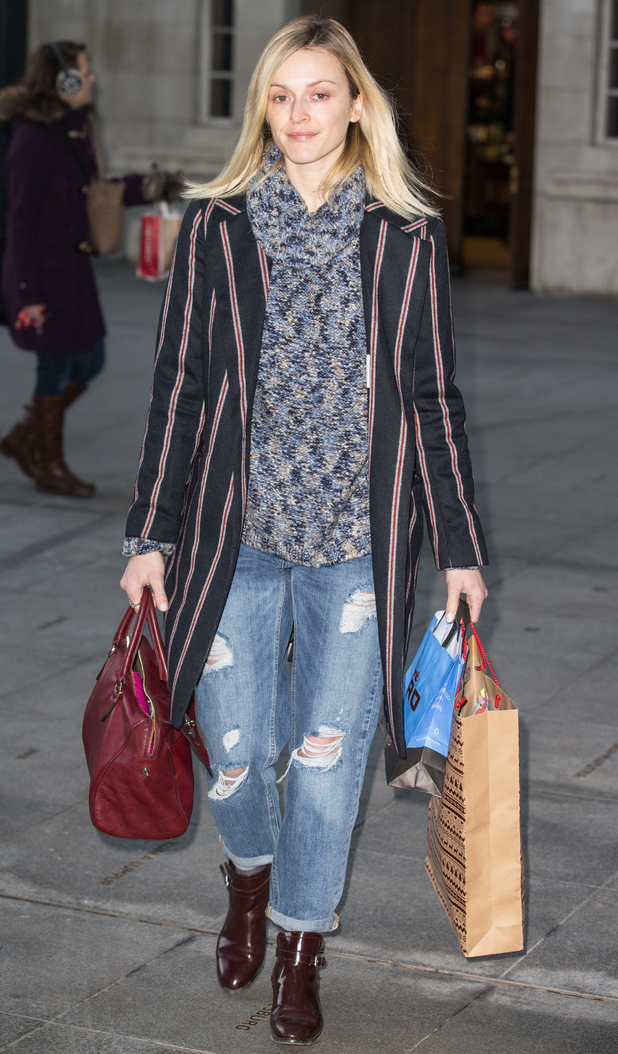 Fearne Cotton makes her way to the Radio 1 studios in London, England - 20 January 2015