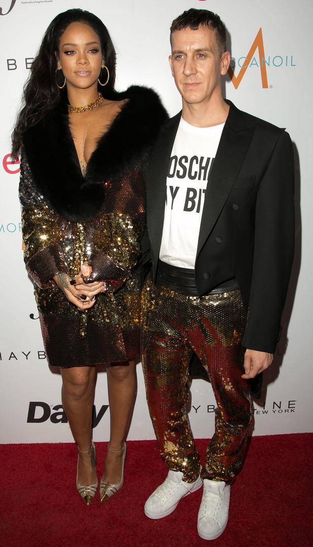 Rihanna and Jeremy Scott attend The Daily Front Row Fashion Awards in Los Angeles, America - 22 January 2015