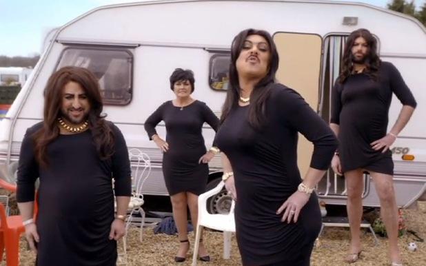 Keith Lemon spoofs the Kardashians for new sketch show, The Keith Lemon Sketch Show. 18 January 2015.