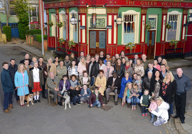 EastEnders cast photo - March 2014.