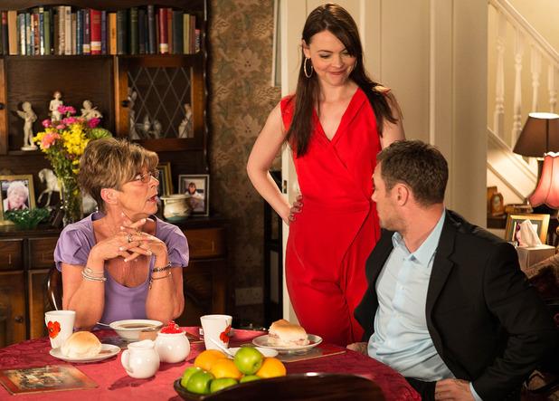 Coronation Street' - Anne Kirkbride plays Deirdre Barlow. - Jul 2014