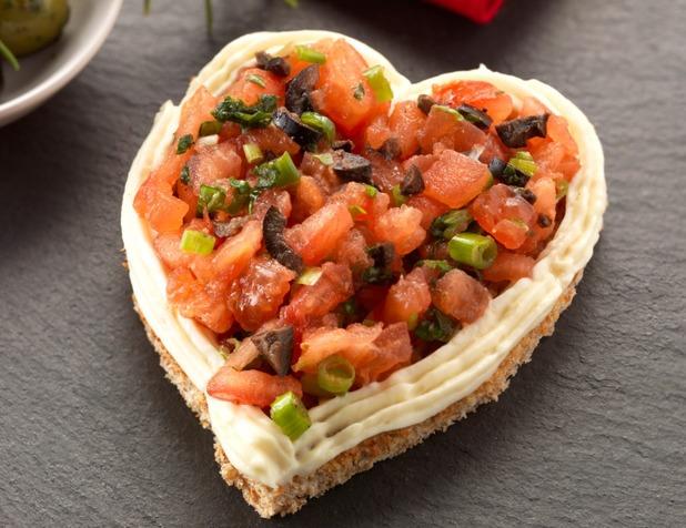 Valentine's bruschetta