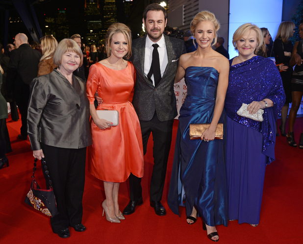 Maddy Hill with Danny Dyer and EastEnders co-stars at NTAs, The O2, London 21 January
