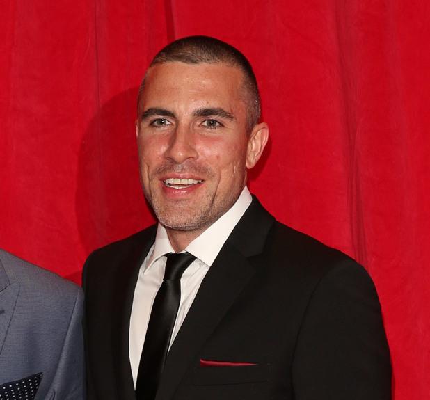Greg Wood with Nick Pickard at British Soap Awards 2014.
