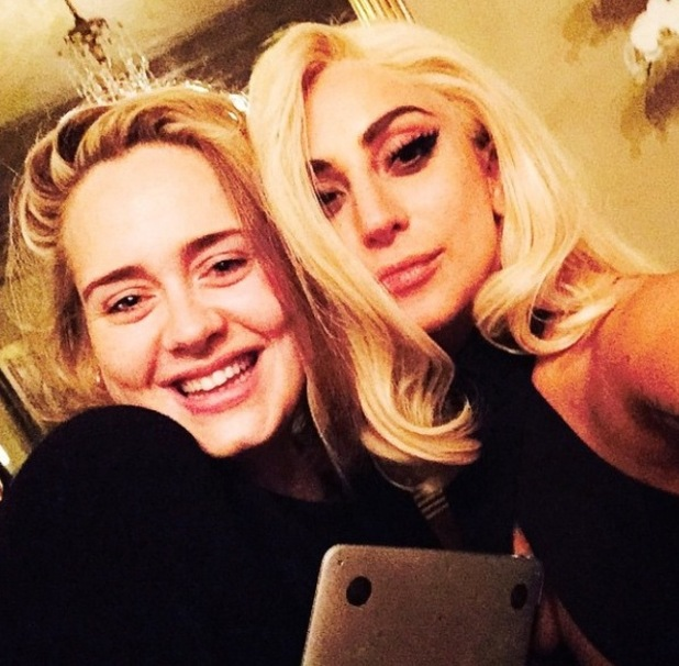 Lady Gaga and Adele spark music collaboration in new selfie - 22/1/2015.