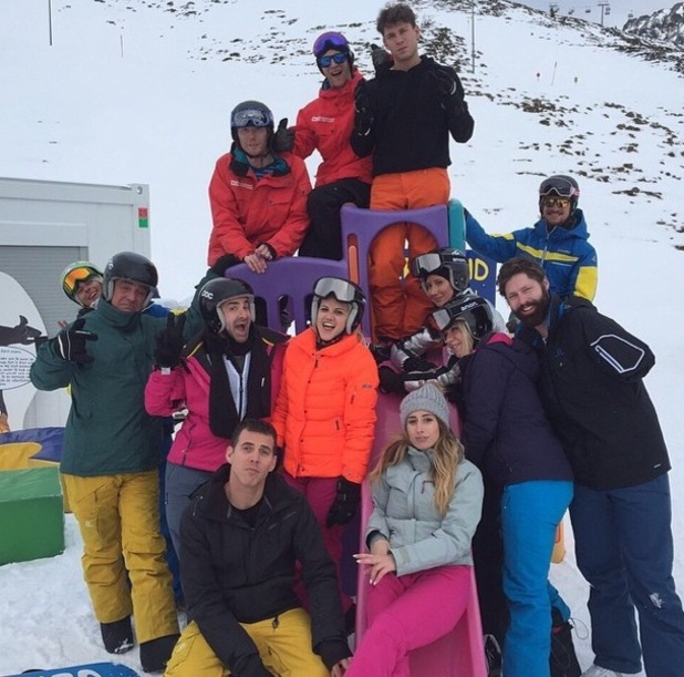 Joey Essex with his The Jump co-stars 16 January