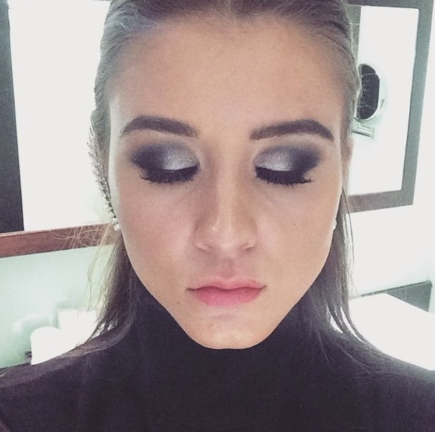 Close-up of Brooke Vincent's National Television Awards make-up, 21/1/15